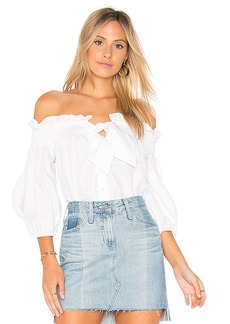 Parker Spade Blouse in Ivory. - size L (also in M,S,XS)