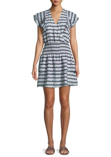 Parker Talbot V-Neck Printed Short Dress