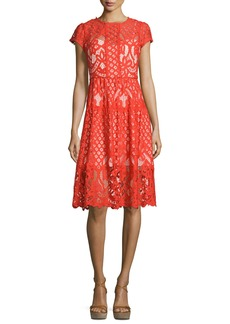 Parker Talulah Cap-Sleeve Lace Dress