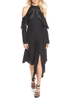 Parker Tanya Cold Shoulder Silk Dress