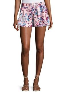 Parker Tie-Front Floral Shorts