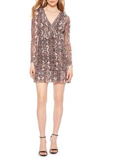 Parker Tina Ruched Long Sleeve Minidress