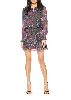Parker Toledo Long Sleeve Silk Minidress