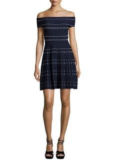 Parker Tricia Off-the-Shoulder Knit Fit & Flare Dress