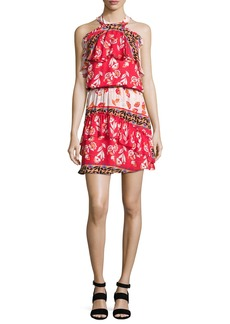 Parker Trisha Popover Floral Silk Mini Dress