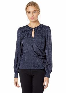 Parker Women's Ainsley Long Sleeve Wrap Blouse  L