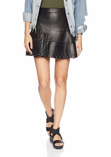 Parker Women's Alex Studded Leather Short Skirt