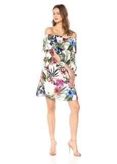Parker Women's Alexis Off The Shoulder 3/4 Sleeve Dress  S