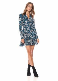 Parker Women's Brooke Long Sleeve Fitted Ruffle Short Dress