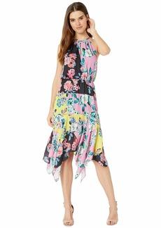Parker Women's Cecelia Halter Neck High Low Midi Dress  S