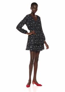 Parker Women's Clementine Long Sleeve Smocked Waist Mini Dress  M