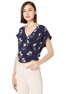 Parker Women's Coco Short Sleeve Wrap Front Top  XS