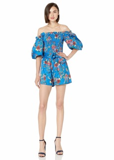 Parker Women's Costa Off The Shoulder Puff Sleeve Romper