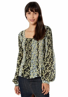 Parker Women's Dara Long Sleeve Smocked Blouse  L