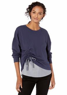 Parker Women's Darce Long Sleeve Layered Combo Sweatshirt  L
