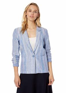 Parker Women's Daren Long Sleeve Striped Linen Jacket  XS