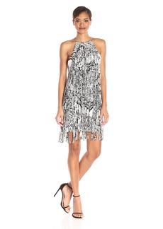 Parker Women's December Halter Printed Fringe Dress