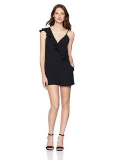 Parker Women's Emily Sleeveless Asymmetrical Ruffle Short Romper