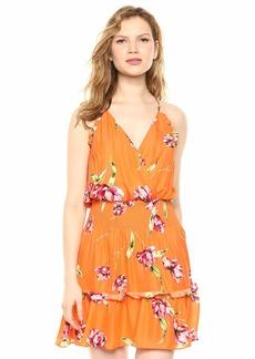 Parker Women's Fabianna Sleeveless Wrap Front Smocked Waist Mini Dress  S