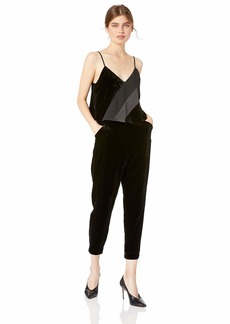 Parker Women's Frida Combo Velvet Adjustable Strap V-Neck Jumpsuit