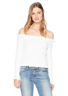 Parker Women's Gyladyce Off The Shoulder Long Sleeve Sweater  M