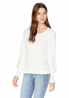 Parker Women's Henri Long Sleeve Ribbed Sweater  L