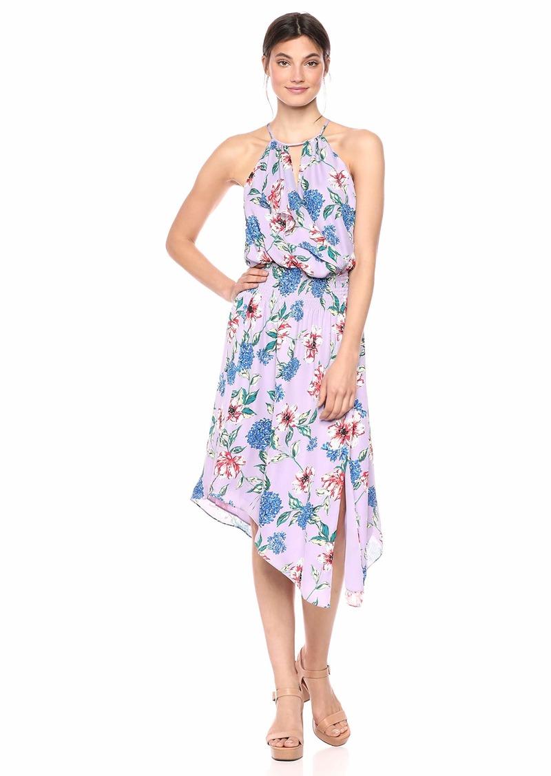 Parker Women's Herley Sleeveless Smocked-Waist Midi Dress  M