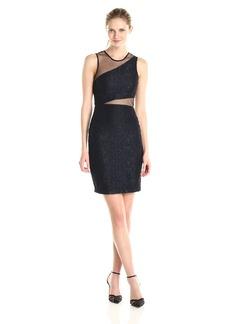 Parker Women's Hollow Combo Sheer Detail Dress