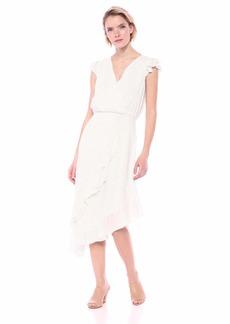 Parker Women's Jannie Short Sleeve Wrap Midi Dress  S