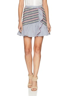 Parker Women's Jordon Fitted Smocked Ruffle Mini Skirt