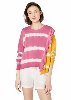 Parker Women's Jorja Asymmetrical Tie Dye Sweater  M