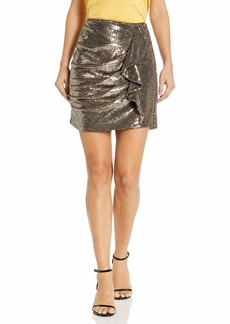 Parker Women's Kenny Ruffle Front Sequin Skirt