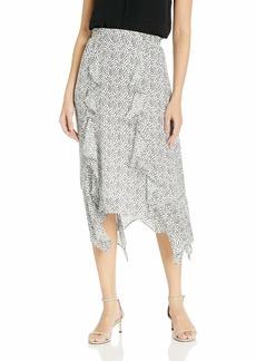 Parker Women's Laine Ruffle Front Midi Skirt  L