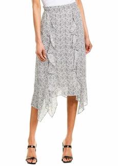 Parker Women's Laine Ruffle Front Midi Skirt  XL
