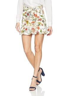 Parker Women's Lieanna Fitted Mini Ruffle Skirt