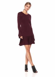 Parker Women's Lois Long Sleeve fit to Flare Knit Dress  XS