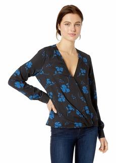 Parker Women's Lola Long Sleeve V-Neck Draped Blouse  S
