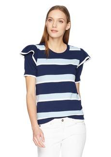 Parker Women's Maren Short Sleeve Striped Sweater  L