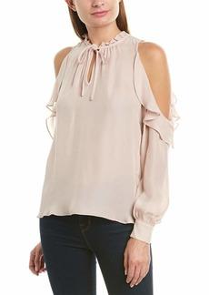 Parker Women's Marjorie Long Sleeve Cold Shoulder Ruffle Blouse  M