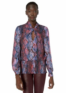 Parker Women's Mercedes Twist Neck Smocked Blouse
