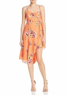 Parker Women's Monroe Sleeveless Drap Front Asymmetric Midi Dress