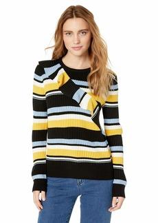 Parker Women's Montego Long Sleeve Striped Sweater  L