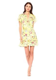 Parker Women's Natalie Flutter Sleeve V-Neck Short Dress