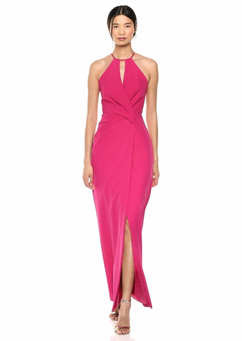 Parker Women's Nola Sleeveless Keyhole Drap Front Evening Dress