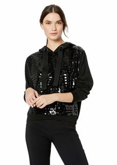 Parker Women's Nolan Long Sleeve Sequined Hooded Sweater  M