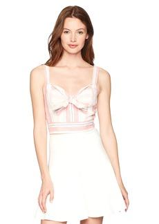 Parker Women's Opal Sleeveless Striped Linen Crop Top  M