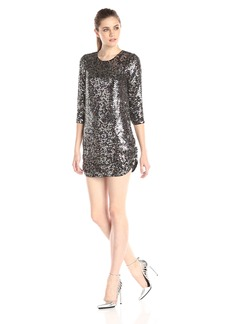 Parker Women's Petra 3/4 Sleeve All Over Embellished Dress