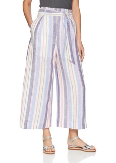 Parker Women's Robbie high Waist Linen Wide Leg Cropped Pant