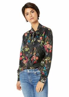 Parker Women's Roberta Long Sleeve Button Front Blouse  XS