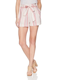 Parker Women's Sage High Waist Striped Linen Short